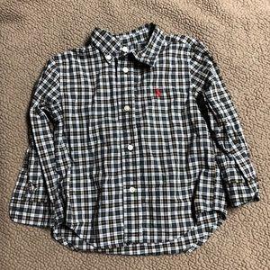 12M Ralph Lauren Button Down Long Sleeve Shirt